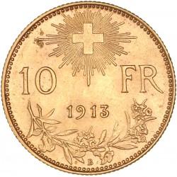 Suisse - 10 francs 1913 B