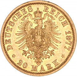 Allemagne - Hambourg  20 mark 1877