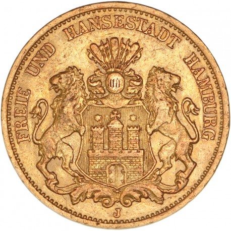 Allemagne - Hambourg  20 mark 1897