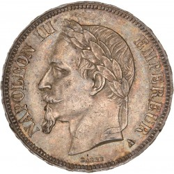 5 francs Napoléon III 1867 A