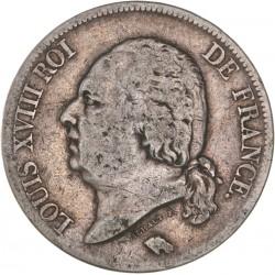 5 francs Louis XVIII 1821 A