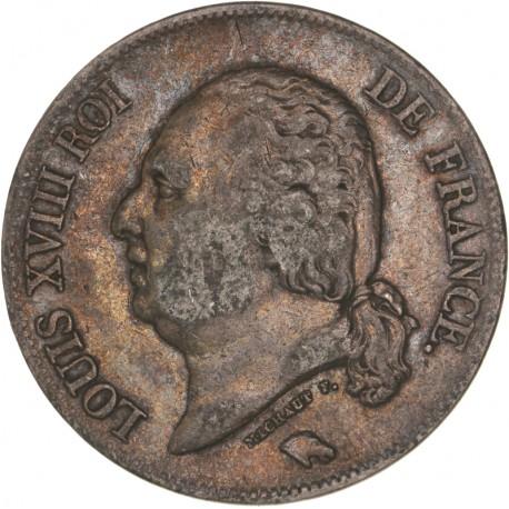 5 francs Louis XVIII 1822 W