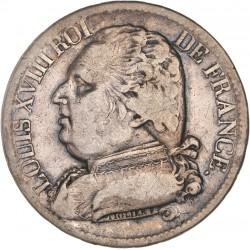 5 francs Louis XVIII 1814 M