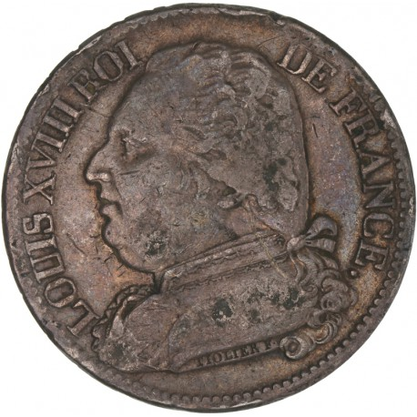 5 francs Louis XVIII 1814 I