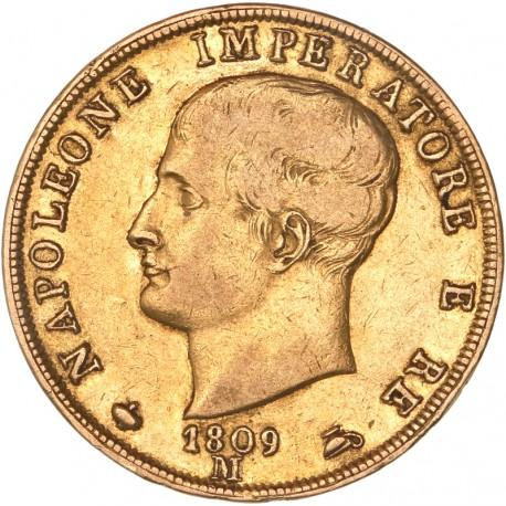 Italie - 40 lires Napoléon Ier 1809 M