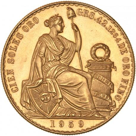 Pérou - 100 Sols 1959