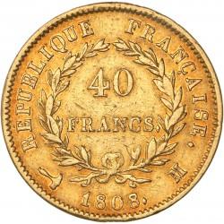 40 francs Napoléon Ier 1808 M