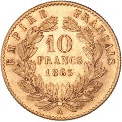 10 francs Napoléon III 1865 A
