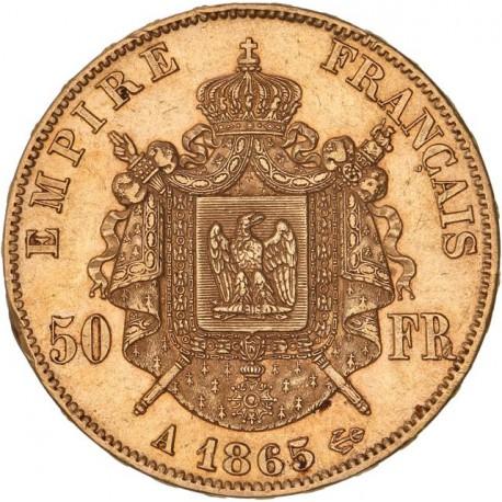 50 francs Napoléon III 1865 A