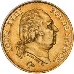 40 francs Louis XVIII 1816 W