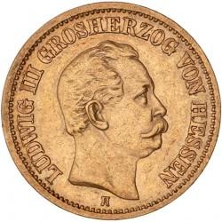 Allemagne - Hesse - 20 mark 1873 H