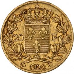 20 francs Louis XVIII - 1820 Q Perpignan