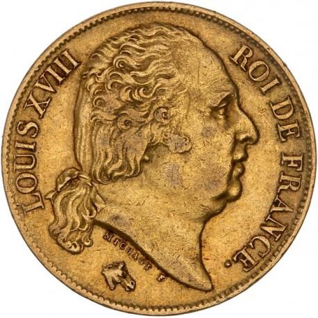 20 francs Louis XVIII - 1819 W Lille