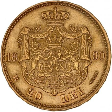 Roumanie - 20 Lei Charles Ier 1890 B