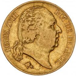 20 francs Louis XVIII - 1817 W Lille
