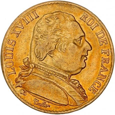 20 francs Louis XVIII 1815 A