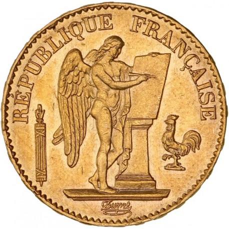 20 francs Génie 1876 A