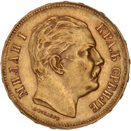 Serbie - 20 dinars 1882