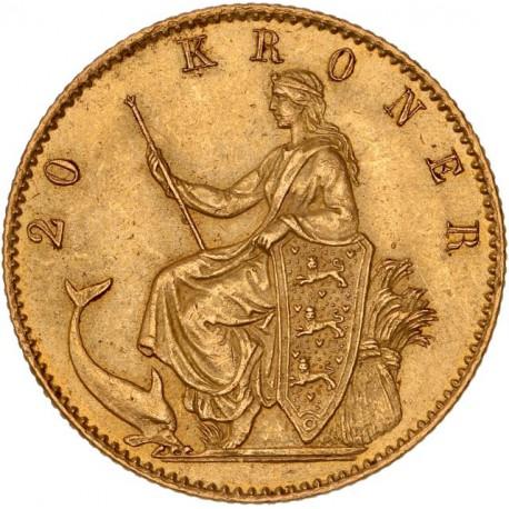 Danemark - 20 couronnes Christian IX 1873 CS