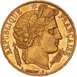 20 francs Cérès 1851 A