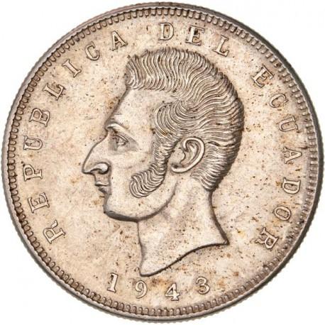 Equateur 5 sucres 1943
