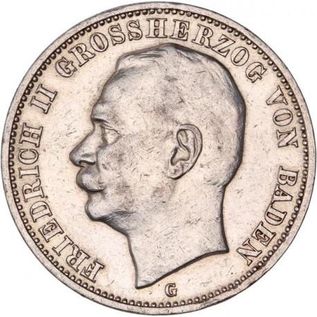Allemagne - Bade - 3 marks 1914 G
