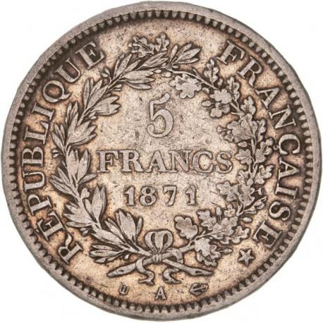5 francs Hercule - 1871 A Camélinat
