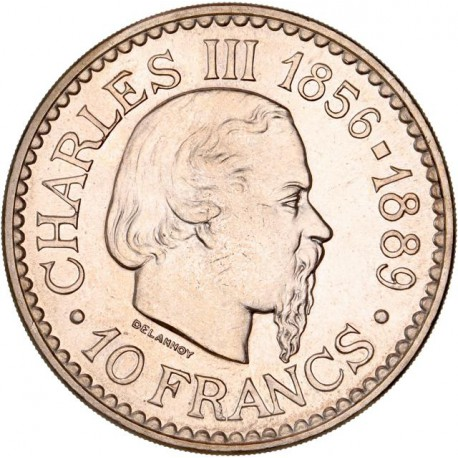 Monaco - 10 francs Prince Rainier III 1966