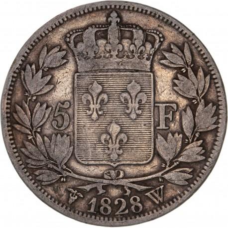 5 francs Charles X 1828 W