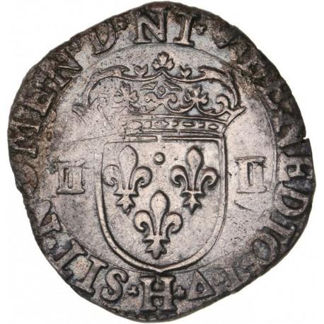 Henri IV - Quart d'écu 1605 H La Rochelle
