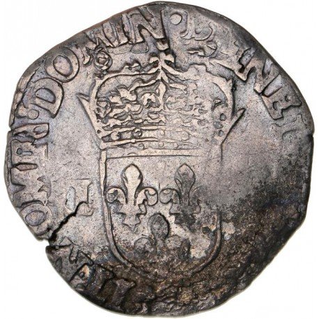 Henri III - Quart d'écu - 1586 9 Rennes