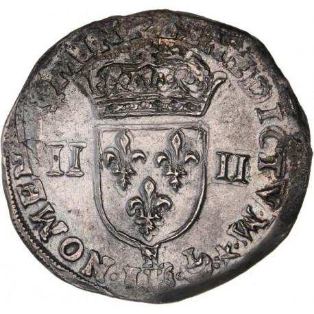 Henri IV - Quart d'écu N Montpellier (date illisible)
