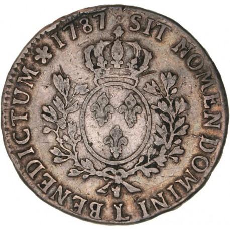 Louis XVI - Ecu 1787 L Bayonne
