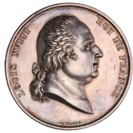 Médaille argent de Louis XVIII - Aux arts utiles