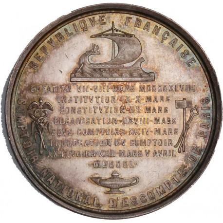 Médaille argent Comptoir d'escompte de Paris