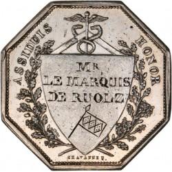 Jeton argent du Conseil Municipal de la ville de Lyon 1829