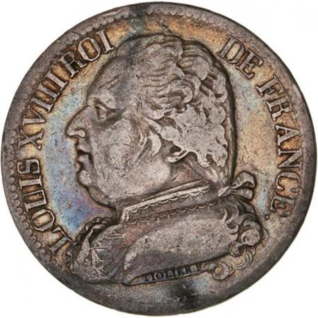 5 francs Louis XVIII 1815 A