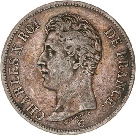 5 francs Charles X 1826 W