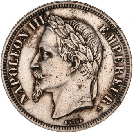2 francs Napoléon III 1866 A Paris
