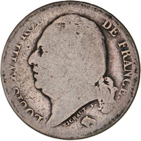 1 franc Louis XVIII 1824 H La Rochelle