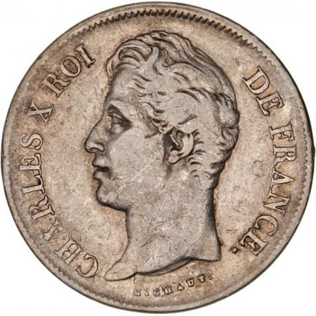 5 francs Charles X 1827 W