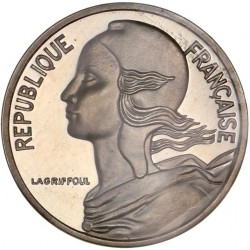 Piéfort argent 5 centimes 1979