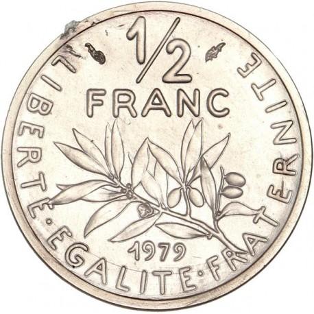 Piéfort argent 1/2 franc 1979