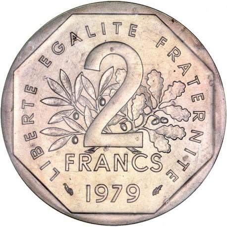 Piéfort argent 2 francs 1979
