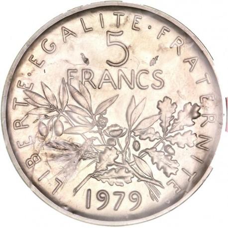 Piéfort argent 5 francs 1979