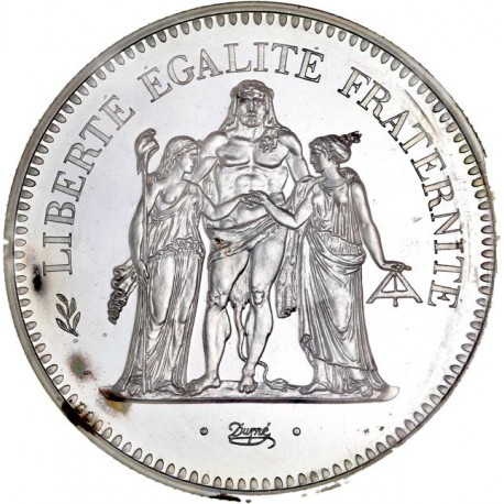 Piéfort argent 50 francs 1979