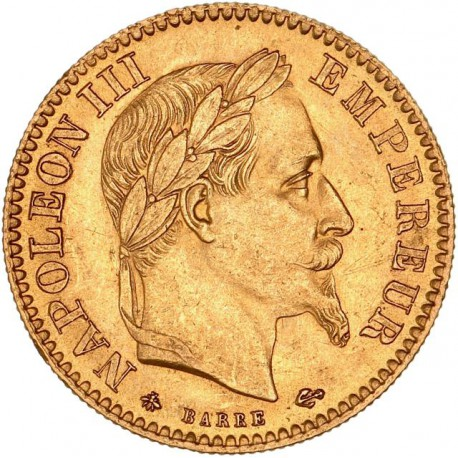 10 francs Napoléon III 1864 A