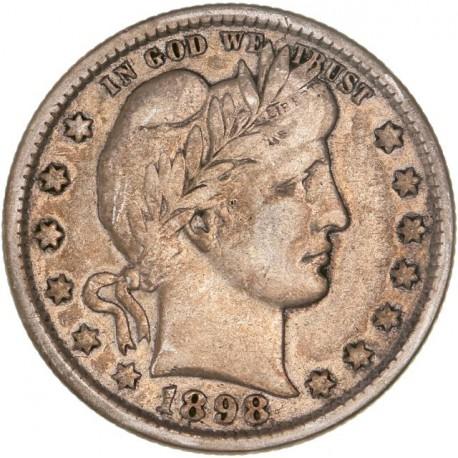 Etats Unis d'Amérique - 1/4 dollar 1898