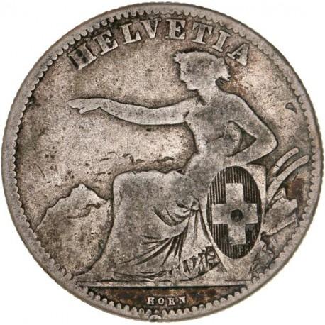 Suisse - 2 francs Helvetia 1860 B