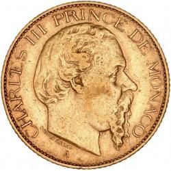 Monaco - 20 francs Charles III 1878 A